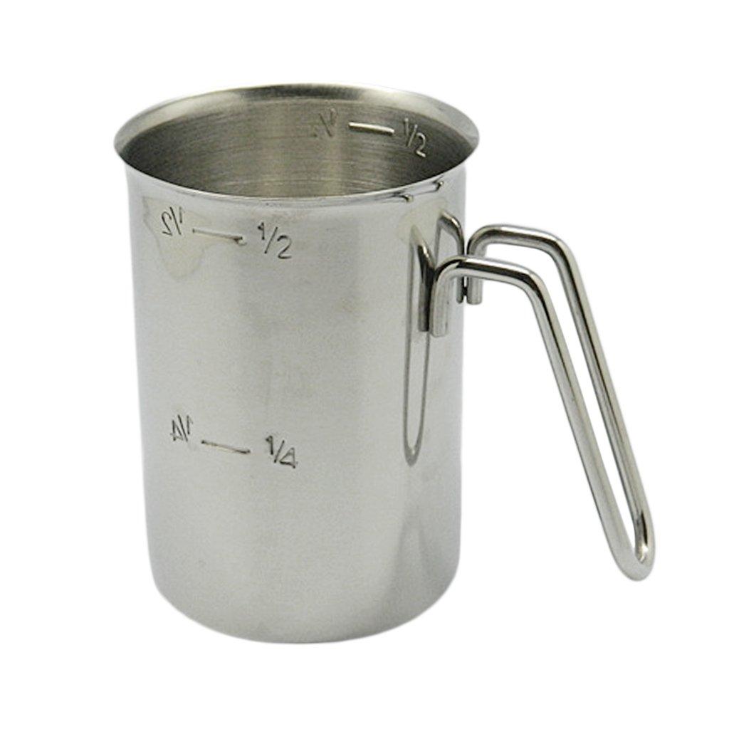 B Blesiya Stainless Steel Coffee Cup Frothing Milk Latte Jug Foam Pitcher 500/1000ml, Widely applied in milk tea shop, restaurant, kitchen, laboratory - 500ml