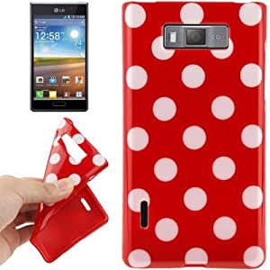 Red and White Dot Pattern TPU Case for LG Optimus L7 / P705