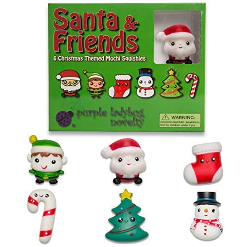 Christmas Jelly Mochi Squishies! 6 festive mochi toys perfect as stocking stuffers, gifts for kids, party favors for kids or holiday stress relief toys - Mochi squishys set includes Santa & 5 More!]()