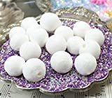 Meyer Imports White - Spun Cotton Balls - Set of 10 - 6-100-0200 decorated, mounted, painted and glittered!