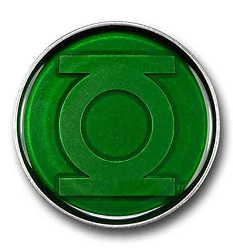 American Superhero Green Lantern Logo Under Glass Casual Style Belt Buckle.
