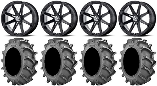Bundle - 9 Items: MSA Black Diesel 18'' Wheels 33x8 BKT 171 (6ply) Tires [4x156 Bolt Pattern 12mmx1.25 Lug kit] by Powersports Bundle (Image #4)'