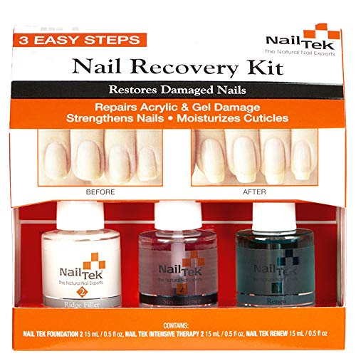 NailTek Nail Recovery Kit, Cuticle Oil, Strengthener, Ridge Filler - restore damaged nails in 3 steps reviews