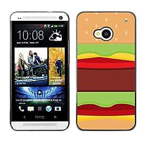 SKCASE Center / Funda Carcasa - Alimentación del arte pop de Brown no deseado;;;;;;;; - HTC One M7