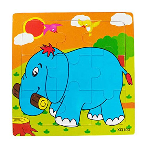 Floralby Jigsaw Puzzle Toy Toddler Kids Colorful Wooden Earl