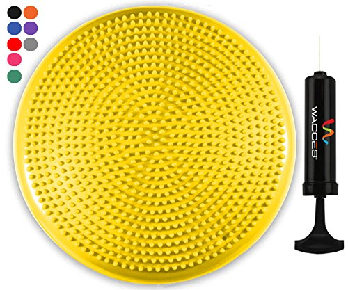 Balance Concentrate (Wacces Inflatable Stability Balance Disc with Smart Pump, ( Yellow ))