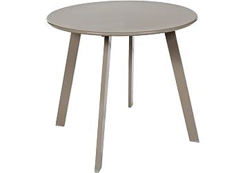 Table basse en acier - Utilisation extérieure et intérieure - Coloris TAUPE