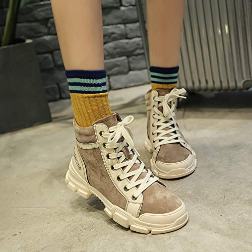 69abafcd1b4e0 KPHY Zapatos de Mujer Martin Botas British Wind Estudiantes Botas Primavera  Y Otoño Zapatos Altos Antiguos De Botas.  Amazon.es  Deportes y aire libre