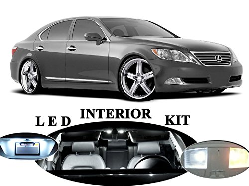 LED Lights for Lexus LS 460 Xenon White LED Package Upgrade - Interior + License plate / Tag + Vanity / Sun Visor + Reverse / Backup (20 pieces)