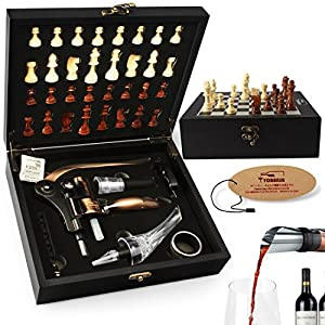 Yobansa 6PC di vino Accesory set cavatappi, tappo per vino, aeratore, set di attrezzi per vino rosso Black Box Toutou6pc 11 spesavip