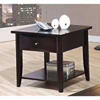 Coaster Home Furnishings 700967 Casual End Table, Cappuccino
