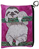 Vegan Change Purse, Coin Purse - Animals - From My Original Paintings - Support Wildlife Conservation, Read How (Sloth -Leisurely Life)