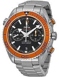 Planet Ocean Chronograph Automatic Orange Bezel Mens Watch