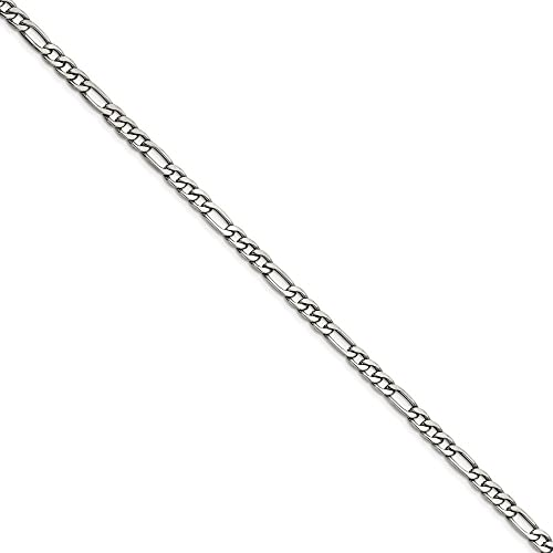 Stainless Steel 6.3mm Figaro Chain 20