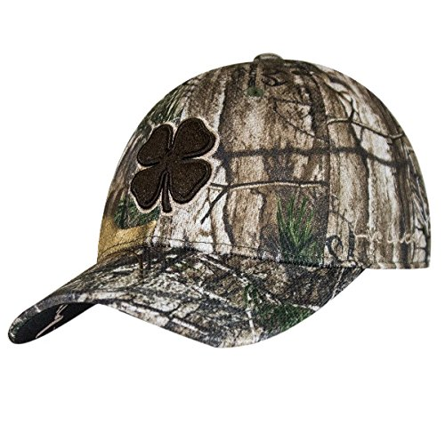 16468ff1425ff Black Clover Brown Tan Camo Hunt Lucky  15 Premium Fitted Hat - S M