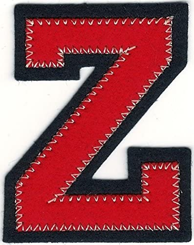 "1/"" x 2 1//4/"" Black Block Letter I embroidery patch"