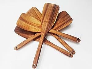 SA Kitchenware Acacia Wood Spatula, 12.5-inch (Set of 10)