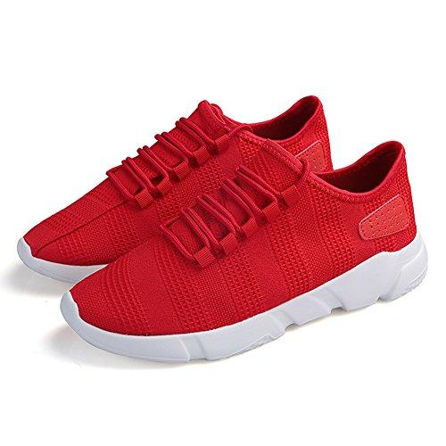 da uomo Corsa Rosso Running Casual sportive Sneakers Scarpe Fitness Ginnastica Tennis Madaleno Interior Basse tqBgEX