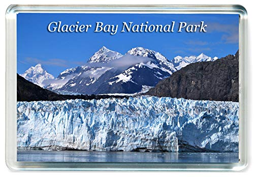 (K177 Glacier Bay National Park & Preserve Alaska Jumbo Refrigerator Magnet USA - United States of America Travel Fridge Magnet)