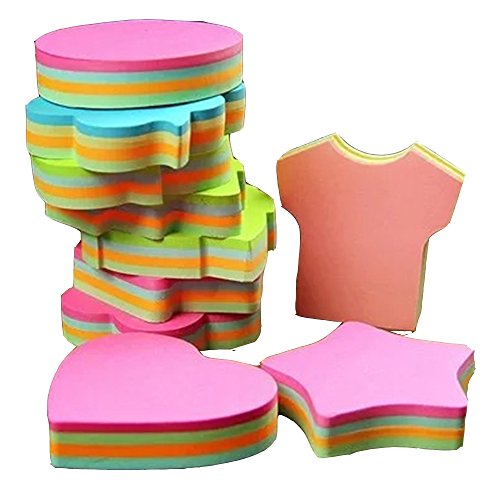 (potato & straw Colorful Sticky Notes In 10 Different Shapes, Bundle Pack - 10 Pads 100 Sheets Per Pads (1000 Sheets!))