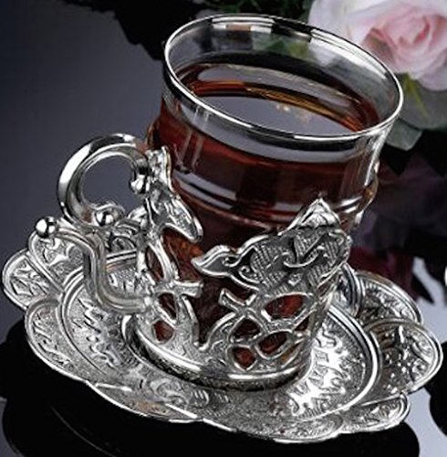 CopperBull Turkish Glasses Saucers Holders product image