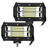 LED Fog Lights 12V 24V 72W 2pcs 5.5inch LED Pods Strip Driving Lights Spot Beam Offroad Light Super Bright for Truck Jeep ATV UTV SUV Boat 2 Years Warranty by HILLSKING