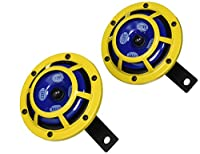 Hella H31000001 114dB 12V Sharptone Panther Dual Horn Kit with Perrin Install Bracket for 2008-14 Subaru WRX STI (Yellow)