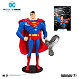 McFarlane Toys DC Multiverse Superman: Superman The Animated Series Action Figure, DC Animated WV1 Superman 7IN Scale AF, Multicolor