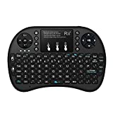Rii i8+ 2.4GHz Mini Wireless Keyboard with Touchpad Mouse, LED Backlit, Rechargable Li-ion Battery (Updated 2017,Backlit)