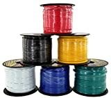 14 Gauge Stranded Copper Clad Aluminum Low Voltage Primary Wire | 6 Color Combo at 100ft/Color (600 ft Total) | Also Available in: Red & Black (200 ft) or 7-Color (700 ft) Trailer Set