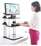 Best to Buy Portable Height- Adjustable -Desk Sit / Stand Elevating Desktop--5 seconds to change sit or stand (White)