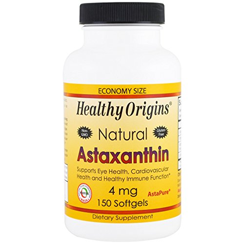 Healthy Origins, Astaxanthin, 4 mg, 150 Softgels - 3PC by Healthy Origins