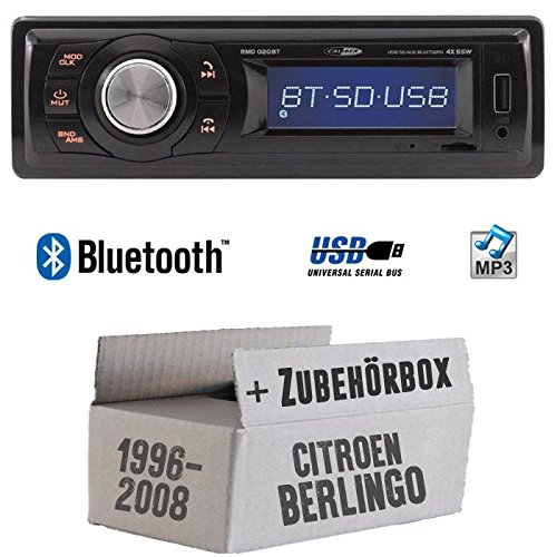 Citroen Berlingo - Autoradio Radio Caliber RMD020BT - Bluetooth | MP3 | USB | Einbauzubehö r - Einbauset JUST SOUND best choice for caraudio CiBer_RMD020BT