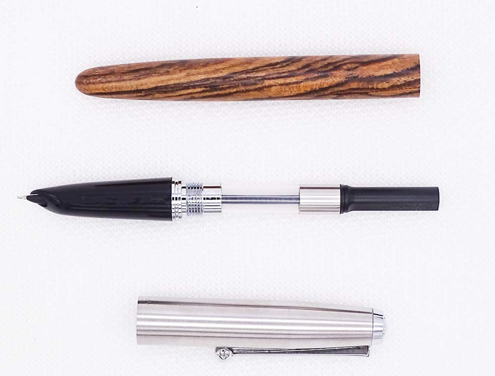 Jinhao 51A Celluloid Fountain Pen Extra Fine Nib 0.38mm Stainless Steel Pen Cap Amber Color with Ink Converter