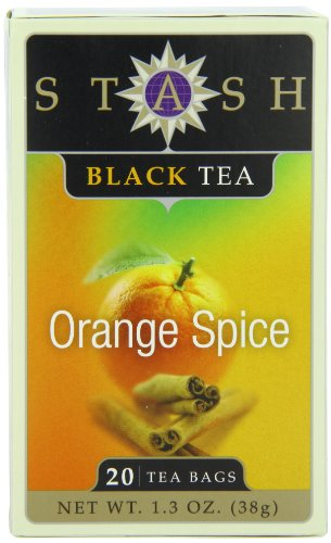 India Orange Tea (Stash Tea Orange Spice Black Tea, 20 Count Tea Bags in Foil (Pack of)