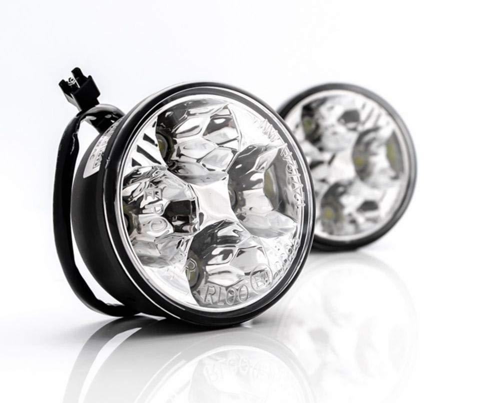 Tagfahrlicht LED Rund 70 MM mit R87 Modul Dimmbar E-Pr/üfzeichen f/ür 12V und 24V KFZ