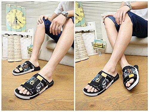 GLTER Los hombres flip flops sandalias transpirables nuevos zapatillas verano moda casual zapatos de playa retro
