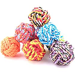 1pcs New Design Pets Rope Ball Toys Bite Ball Colorful Squeak Toys Dog Wool Ball Toys Large Size Pet Puppy Chew Toys (Color Random)
