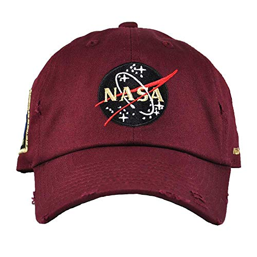 FIELD GRADE Skylab NASA Hat Special Edition Patch (Burgundy Distressed)]()