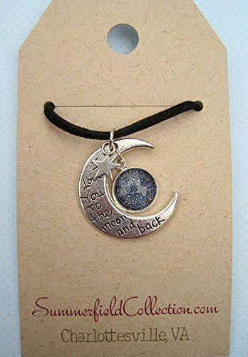 Silver-Tone Starry Night Glitter Glass I Love You to the