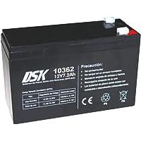 DSK 10362 – akumulator ołowiowy, wysoka wydajność pobrania do ups-sai 12 V 7,2 Ah, czarny