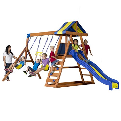 Discovery Swing - Backyard Discovery Dayton All Cedar Wood Playset Swing Set