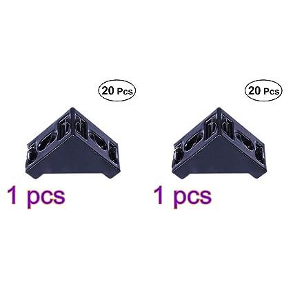 424469a154 UKCOCO 40 pz 2028/3030 angolo staffa angolo di montaggio in alluminio 20mm  x 28mm