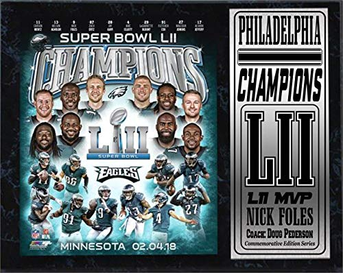 Encore Superbowl Champions Eagles LII World Champions 12x15 Plaque-by Select