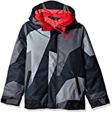 Under Armour Boys' Storm Powerline Insulated Jacket, Steel/Red, Youth Medium