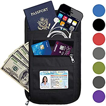 Omystyle Fashion RFID Blocking Travel Passport Holder