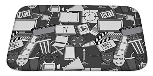 Gear New Bath Mat For Bathroom, Memory Foam Non Slip, Movie Entertainment Design, 34x21, (New Kids Directors Chair)