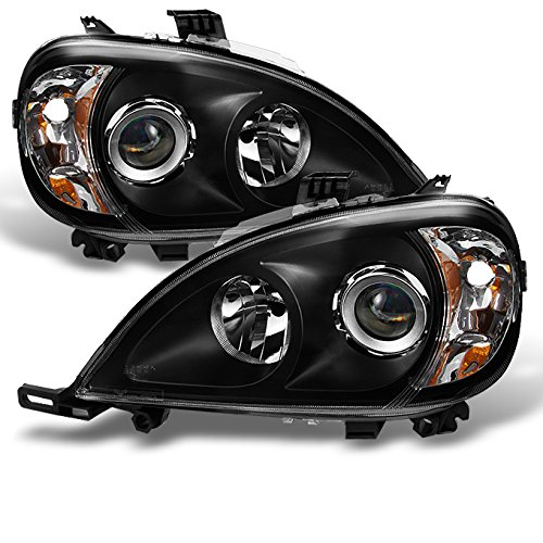 Mercedes Projector Headlights - For Mercedes Benz W163 ML320 ML430 M Class Projector Headlights Black Left/Right Headlamps