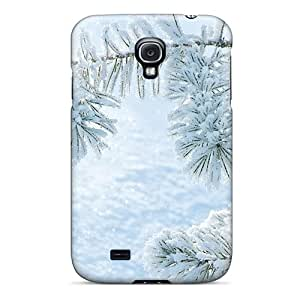 TaF4481rqbV Tpu Case Skin Protector For Galaxy S4 Fresh Snow On Pine With Nice Appearance