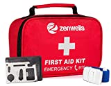 First Aid Kit Trauma Bag; 154 Pieces Medical Supplies for Car Emergency, Complete Med Kit Tactical, EDC Gear for Camping, Hiking, Backpacking, Travel, Home, Businesses Plus Tourniquet & Safety Blanket